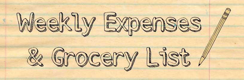 Weekly Expenses & Grocery List