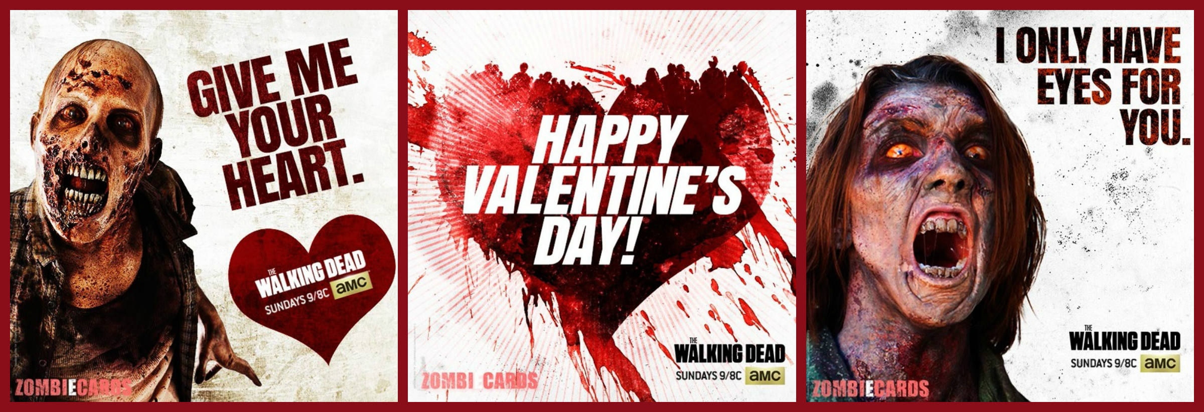 Valentines Day Zombie Cards