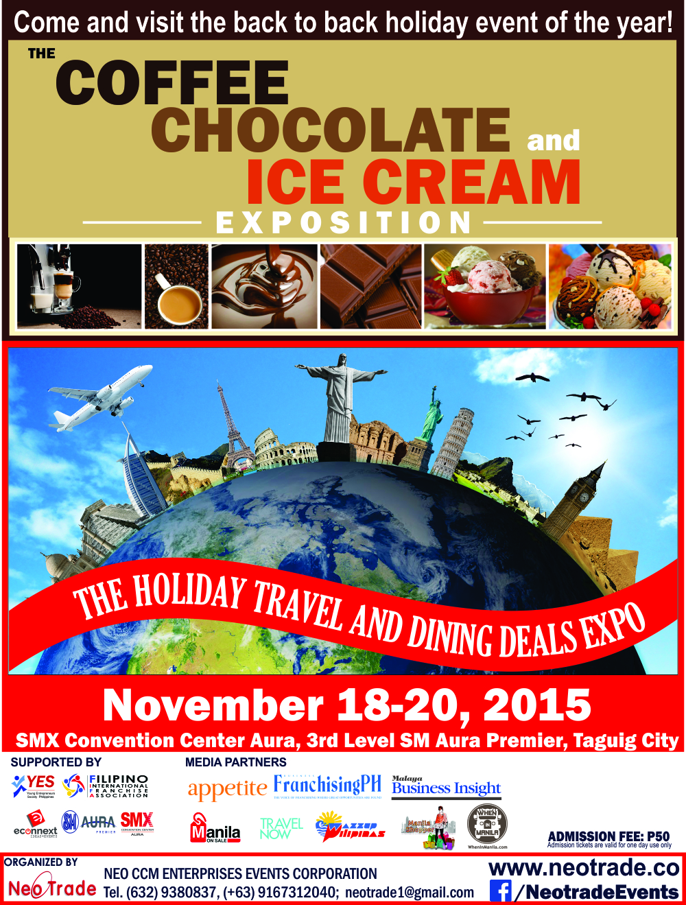 The Travel and Dining Deals Expo November 18-20 2015