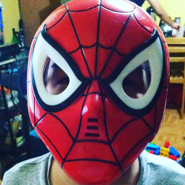 My Little Spiderman's Halloween Costume Mask