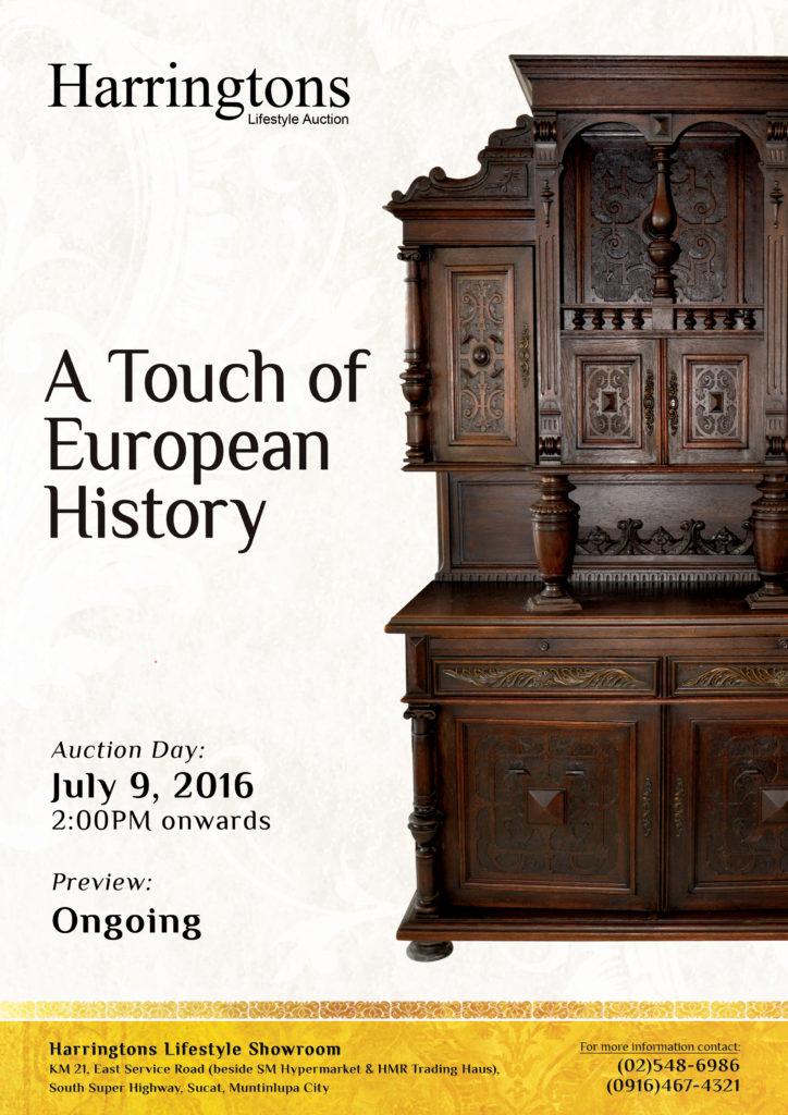 1 Harringtons Auction A Touch of European History