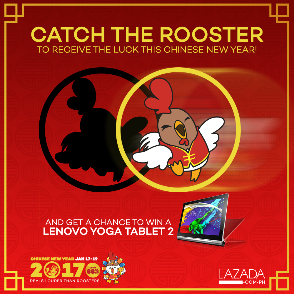 Welcome the Year of the Rooster with Lucky Deals from Lazada
