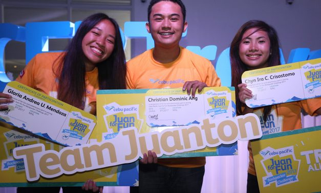 Cebu Pacific Juan for Fun Backpacking Challenge Winners for 2017!